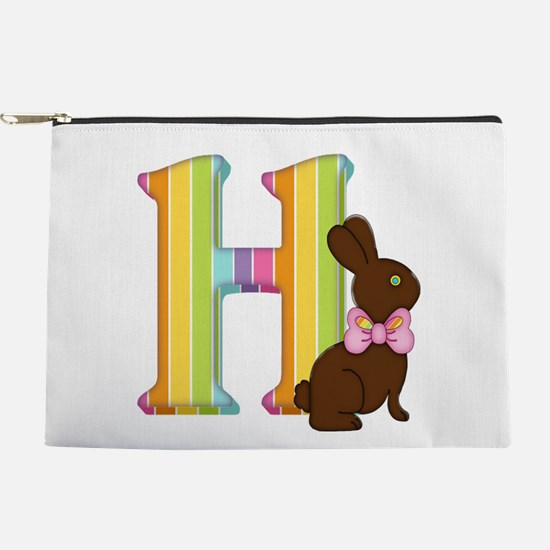 Letter H Chocolate Easter Bunny Makeup Bag
