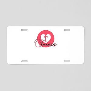 teresa Aluminum License Plate