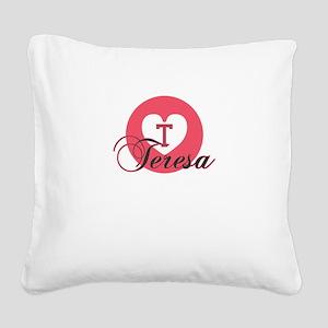 teresa Square Canvas Pillow