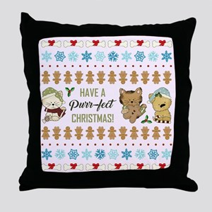 PURR-FECT CHRISTMAS Throw Pillow