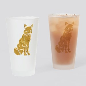 Golden Fox Drinking Glass