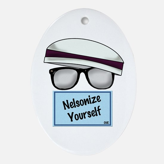 """""""Nelsonize Yourself"""" Oval Ornament"""