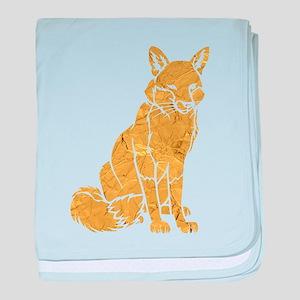 Golden Fox baby blanket