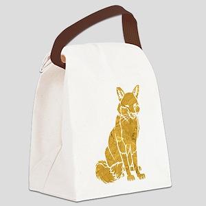 Golden Fox Canvas Lunch Bag