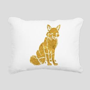 Golden Fox Rectangular Canvas Pillow