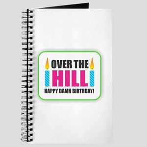 Over the Hill Happy Damn Birthday Journal