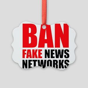 Ban Fake News Networks Ornament