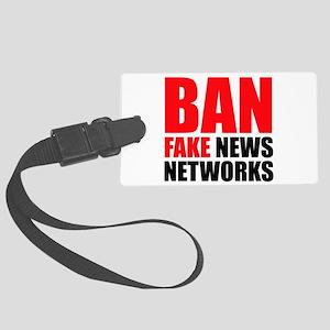 Ban Fake News Networks Luggage Tag