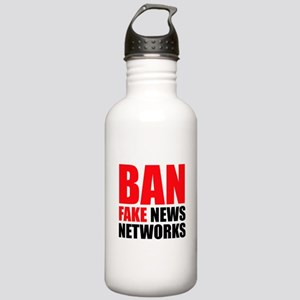 Ban Fake News Networks Water Bottle