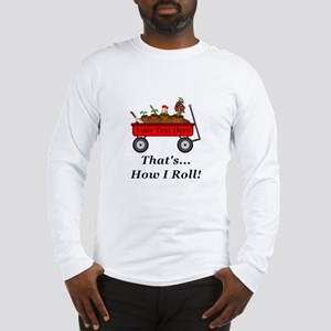 Personalized Red Wagon Long Sleeve T-Shirt