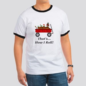 Personalized Red Wagon Ringer T