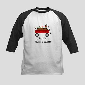 Personalized Red Wagon Kids Baseball Jersey