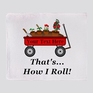 Personalized Red Wagon Throw Blanket