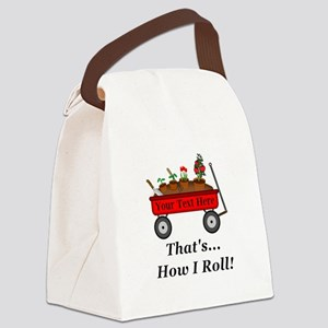 Personalized Red Wagon Canvas Lunch Bag