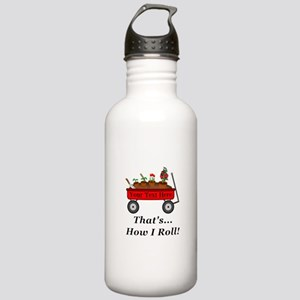 Personalized Red Wagon Stainless Water Bottle 1.0L