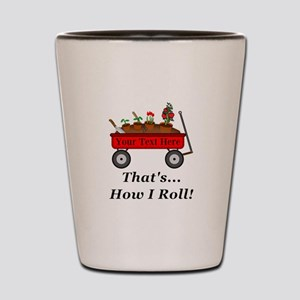 Personalized Red Wagon Shot Glass