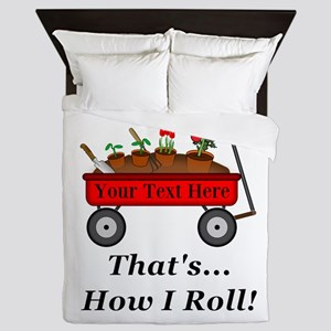 Personalized Red Wagon Queen Duvet