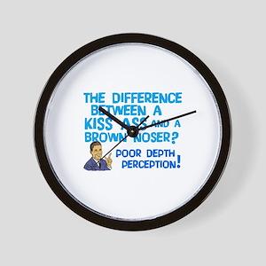 Kiss Ass Brown Nose Wall Clock
