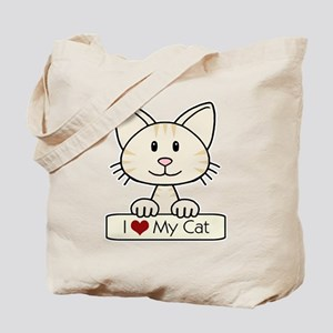 I Love My Cat Tote Bag
