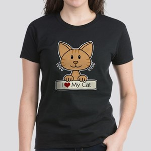 I Love My Cat Women's Dark T-Shirt