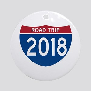 Road Trip 2018 Round Ornament