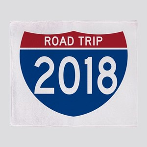 Road Trip 2018 Throw Blanket