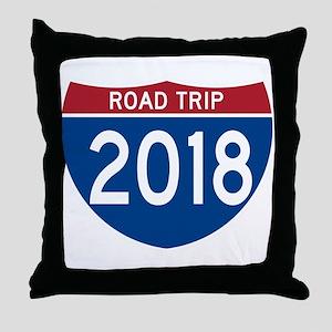 Road Trip 2018 Throw Pillow