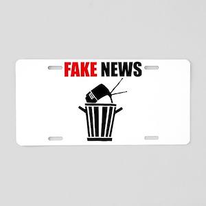 Fake News Pile of Garbage Aluminum License Plate