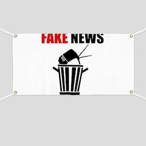 Fake News Pile of Garbage Banner