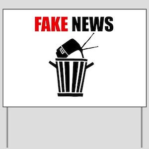 Fake News Pile of Garbage Yard Sign