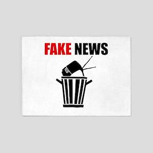 Fake News Pile of Garbage 5'x7'Area Rug