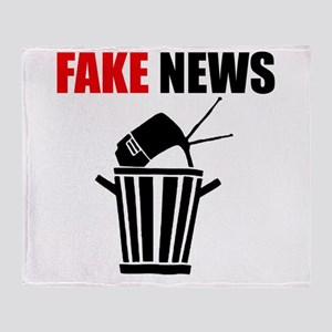 Fake News Pile of Garbage Throw Blanket