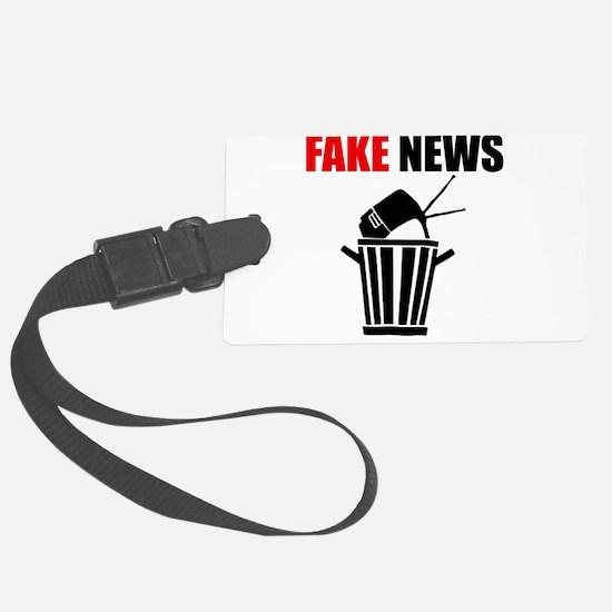 Fake News Pile of Garbage Luggage Tag