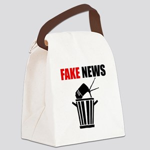 Fake News Pile of Garbage Canvas Lunch Bag