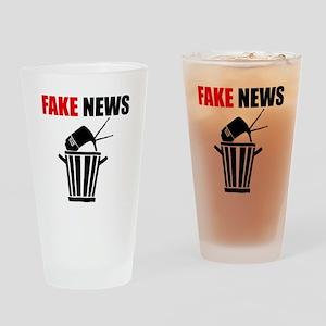 Fake News Pile of Garbage Drinking Glass
