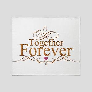 Together Forever Valentine's Day Lov Throw Blanket