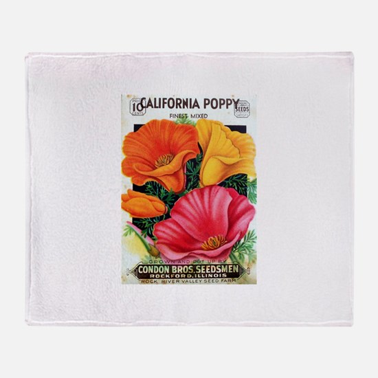 California Poppy Throw Blanket