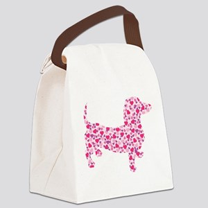 Doxie Hearts Canvas Lunch Bag