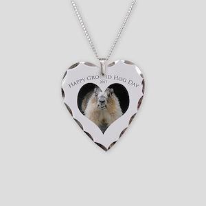 Happy Ground Hog Day Necklace