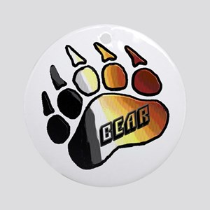 BEAR PRIDE PAW/BEAR Ornament (Round)