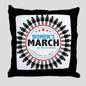Womens March Throw Pillow