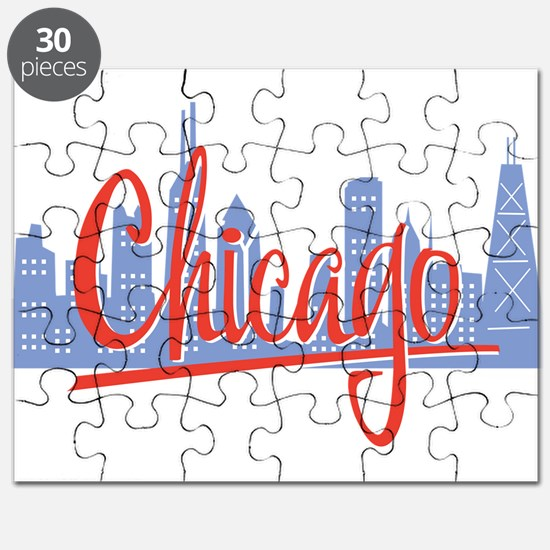 Chicago Red Script On Dark.png Puzzle