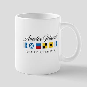 Amelia Island Nautical Flags Mugs