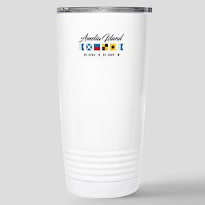 Amelia Island Nautical Stainless Steel Travel Mug