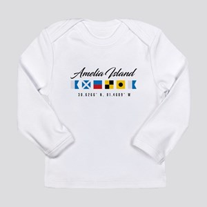 Amelia Island Nautical Flags Long Sleeve T-Shirt