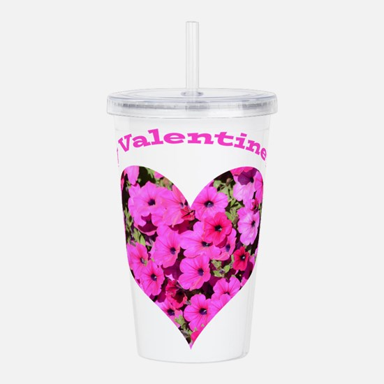 Happy Valentine's Day Acrylic Double-wall Tumbler