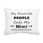 People call me Mimi Rectangular Canvas Pillow