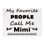 People call me Mimi 5'x7'Area Rug