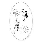 People call me Mimi Sticker (Oval 50 pk)