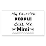 People Call Me Mimi Sticker (rectangle 50 Pk)